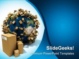 Worldwide Delivery Globe PowerPoint Templates And PowerPoint Backgrounds 0311