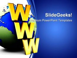 Www Internet Symbol PowerPoint Templates And PowerPoint Backgrounds 0211