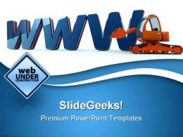 Www Web Building Construction PowerPoint Templates And PowerPoint Backgrounds 0411