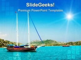 Yachts In The Bay Holidays PowerPoint Templates And PowerPoint Backgrounds 0211