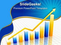 Yellow And Blue Graph Business PowerPoint Templates And PowerPoint Backgrounds 0611
