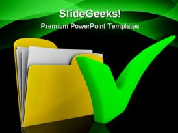 Yellow Computer Folder Security PowerPoint Templates And PowerPoint Backgrounds 0211