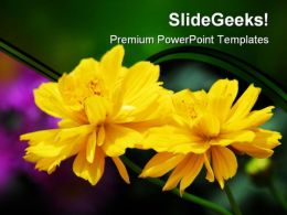 Yellow Flowers Nature PowerPoint Templates And PowerPoint Backgrounds 0211