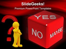 Yes No Metaphor PowerPoint Templates And PowerPoint Backgrounds 0211