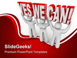 Yes We Can Metaphor PowerPoint Templates And PowerPoint Backgrounds 0811