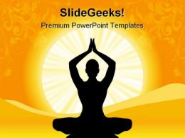 Yoga Health PowerPoint Templates And PowerPoint Backgrounds 0611