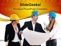 Young Architect Real Estate PowerPoint Templates And PowerPoint Backgrounds 0611