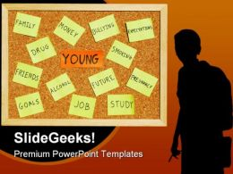 Young Concerns Youth PowerPoint Template 0910