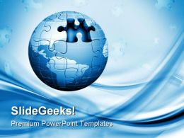 Zigsaw Globe Business PowerPoint Templates And PowerPoint Backgrounds 0311