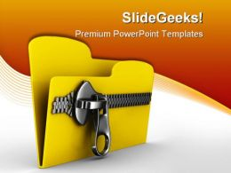Zip Folder Computer PowerPoint Backgrounds And Templates 0111