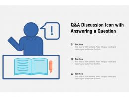 Q And A Discussion Icon With Answering A Question