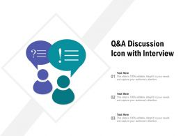 Q And A Discussion Icon With Interview