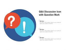 Q And A Discussion Icon With Question Mark