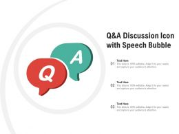 Q And A Discussion Icon With Speech Bubble