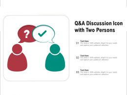 Q And A Discussion Icon With Two Persons