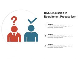 Q And A Discussion In Recruitment Process Icon