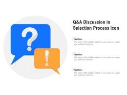 Q And A Discussion In Selection Process Icon