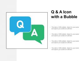 Q And A Icon With A Bubble