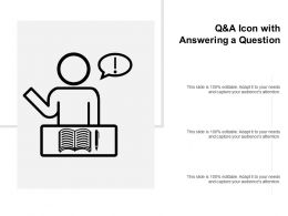 Q And A Icon With Answering A Question