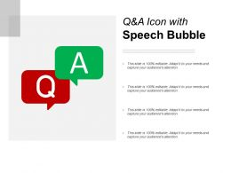 Q And A Icon With Speech Bubble