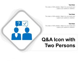 Q And A Icon With Two Persons