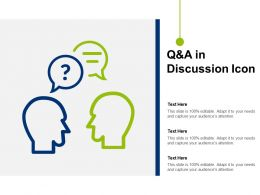 Q And A In Discussion Icon