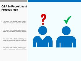 Q And A In Recruitment Process Icon