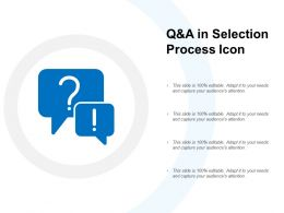 Q And A In Selection Process Icon