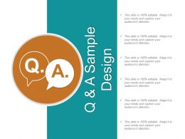 Q And A Sample Design Ppt Slide Show