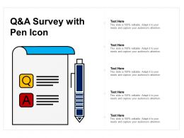 Q And A Survey With Pen Icon
