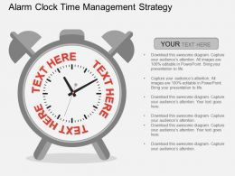 Qa Alarm Clcok Time Management Strategy Flat Powerpoint Design