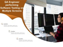 QA Engineer Performing Software Testing On Multiple Screens