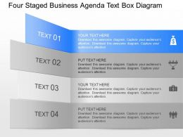qa Four Staged Business Agenda Text Box Diagram Powerpoint Template