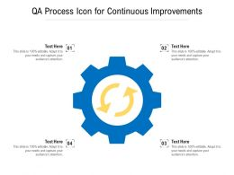 QA Process Icon For Continuous Improvements