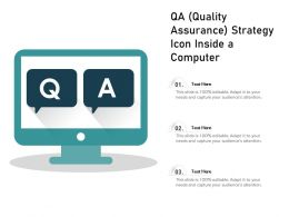 QA Quality Assurance Strategy Icon Inside A Computer