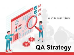 QA Strategy Assessment Assurance Strategy Business Methodology Management