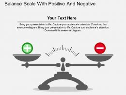 qb_balance_scale_with_positive_and_negative_flat_powerpoint_design_Slide01