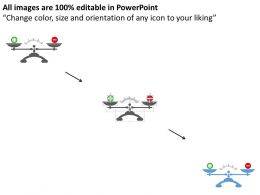 Qb Balance Scale With Positive And Negative Flat Powerpoint Design