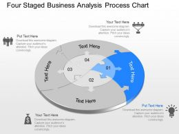 qb Four Staged Business Analysis Process Chart Powerpoint Template