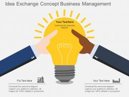 Qb Idea Exchange Concept Business Management Flat Powerpoint Design