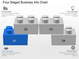 qc Four Staged Business Info Chart Powerpoint Template