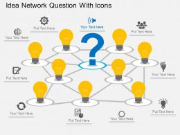 Qc Idea Network Question With Icons Flat Powerpoint Design