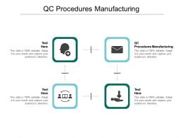 QC Procedures Manufacturing Ppt Powerpoint Presentation Gallery Designs Download Cpb