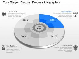 qf Four Staged Circular Process Infographics Powerpoint Template