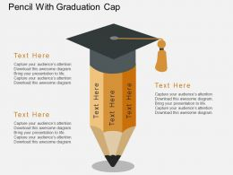 Qf Pencil With Graduation Cap Flat Powerpoint Design