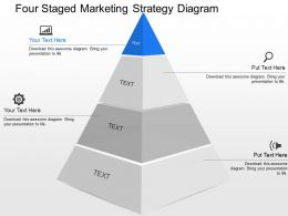 qg Four Staged Marketing Strategy Diagram Powerpoint Template