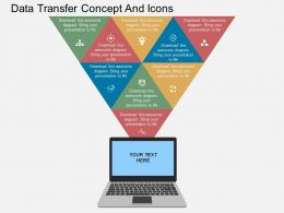 Qh Data Transfer Concept And Icons Flat Powerpoint Design