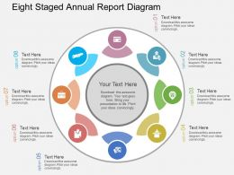 Qj Eight Staged Annual Report Diagram Flat Powerpoint Design