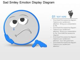 qj Sad Smiley Emotion Display Diagram Powerpoint Template