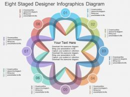 Qk Eight Staged Designer Infographics Diagram Flat Powerpoint Design